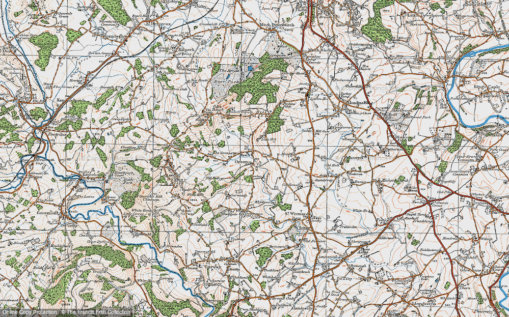 Old Map of Orcop, 1919 in 1919