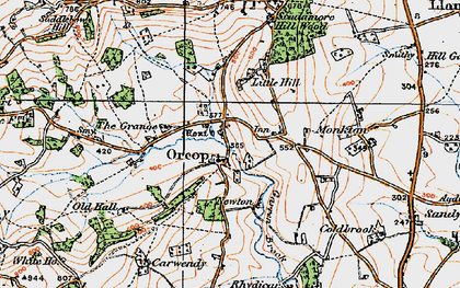 Old map of Orcop in 1919