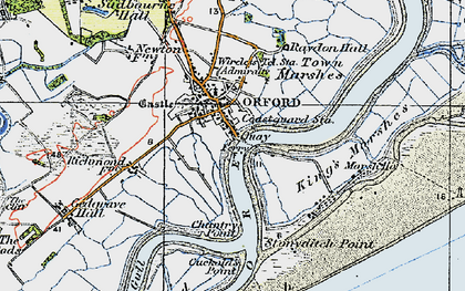 Old map of Orford in 1921