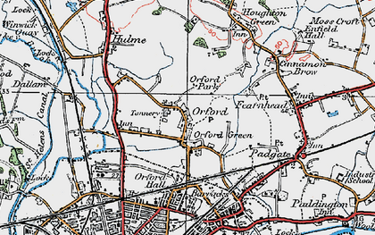Old map of Orford in 1923