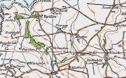 Old map of Winsle in 1922
