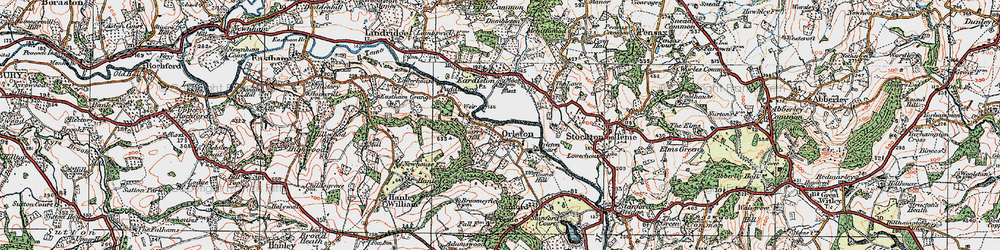 Old map of Orleton in 1920