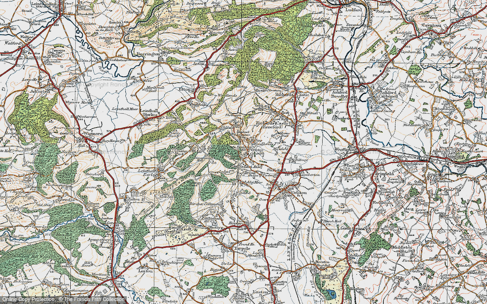 Old Map of Historic Map covering Woodcock Hill in 1920