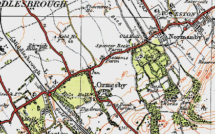 Old map of Ormesby in 1925