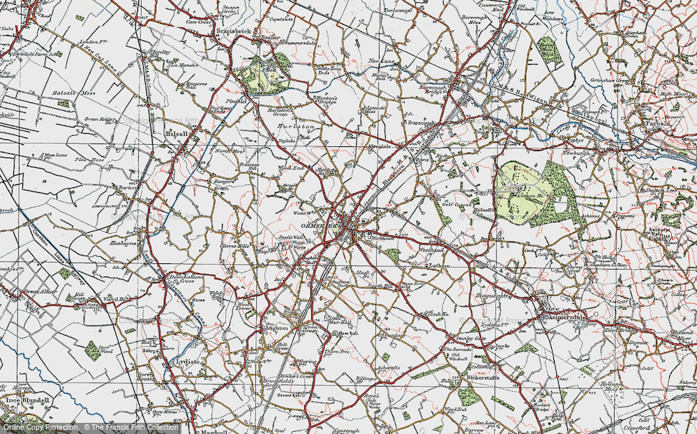 Old Map of Ormskirk, 1923 in 1923