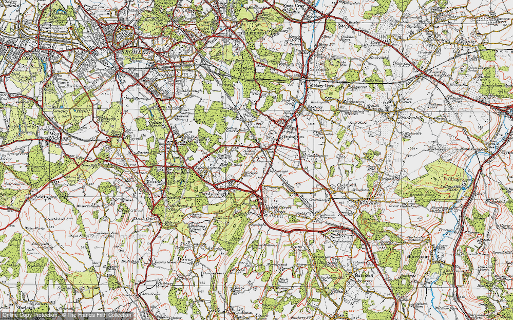 Old Map of Orpington, 1920 in 1920