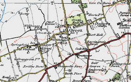 Old map of White Crofts in 1920