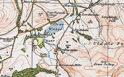 Old map of White Hause in 1925