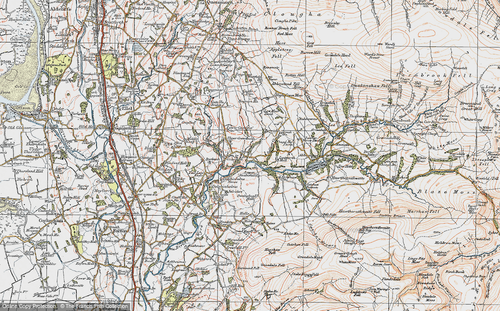 Old Map of Historic Map covering Lentworth Hall in 1924