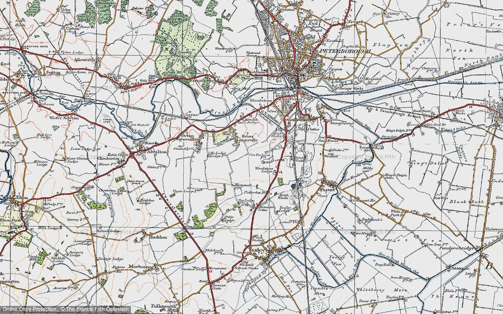 Old Map of Orton Malborne, 1922 in 1922