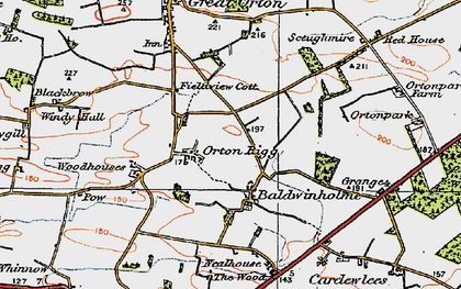 Old map of Orton Rigg in 1925