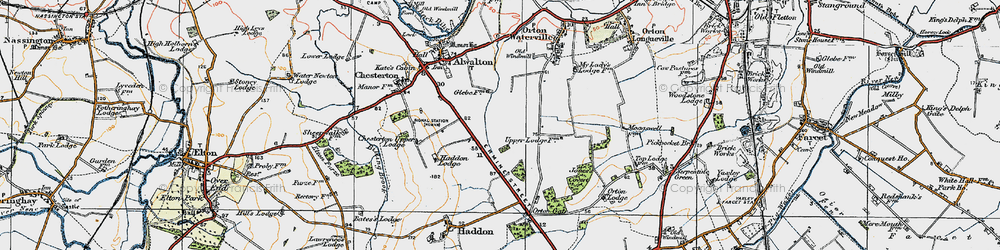 Old map of Toon's Lodge in 1922