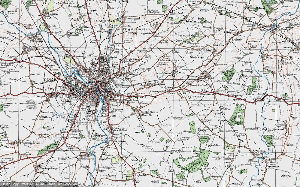 Old Map of Osbaldwick, 1924 in 1924