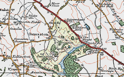 Old map of Yeldersley Hall in 1921