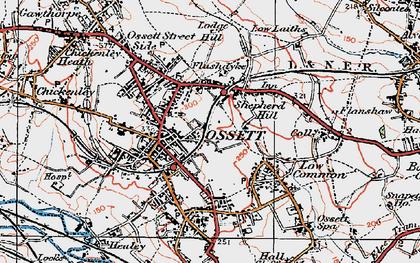 Old map of Ossett in 1925