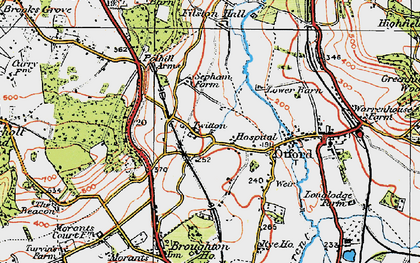 Old map of Otford in 1920