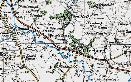Old map of Tilesheds in 1925