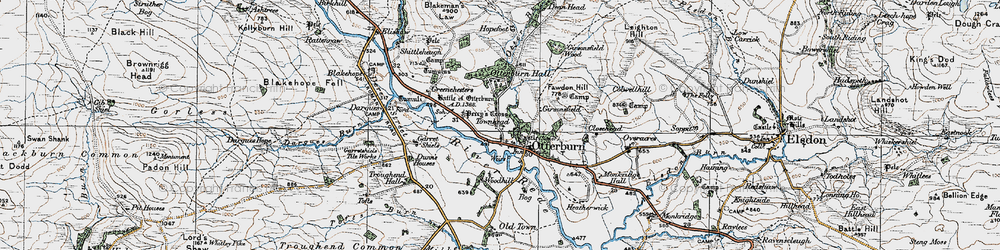 Old map of Woodhill in 1925