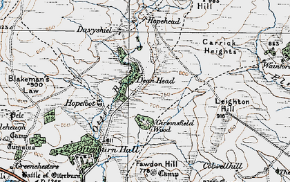 Old map of Leighton Hill in 1925