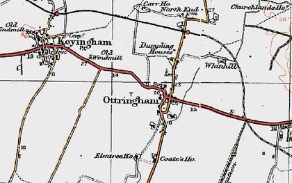 Old map of Westlands Plantation in 1924