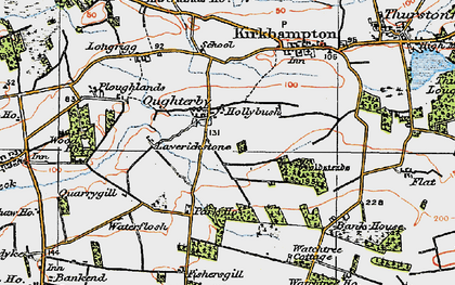 Old map of Laverickstone in 1925