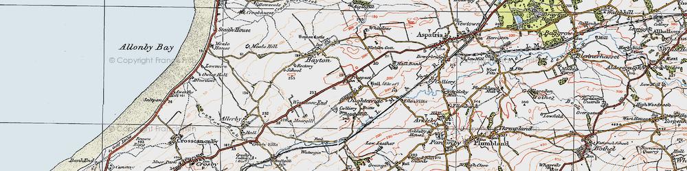 Old map of Tilekiln Cott in 1925