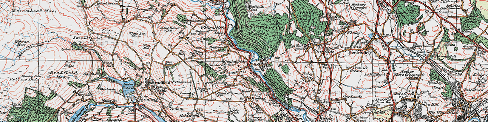 Old map of Wharncliffe Wood in 1923
