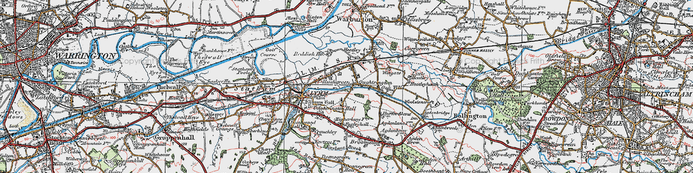 Old map of Oughtrington in 1923