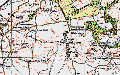 Old map of Adam's Hall in 1925
