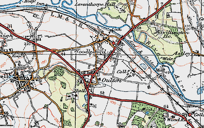 Old map of Aire & Calder Navigation in 1925