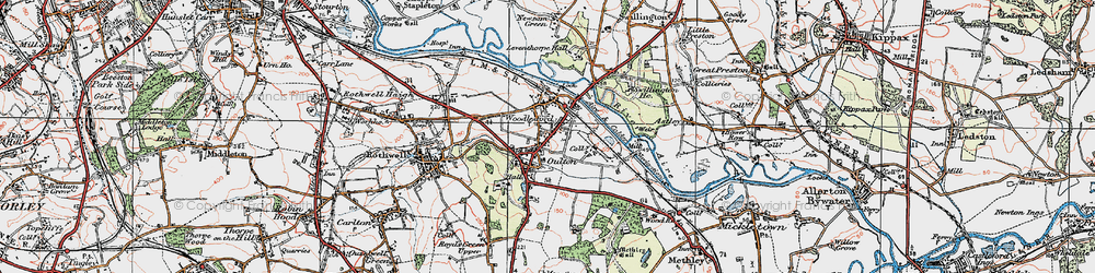 Old map of Oulton in 1925