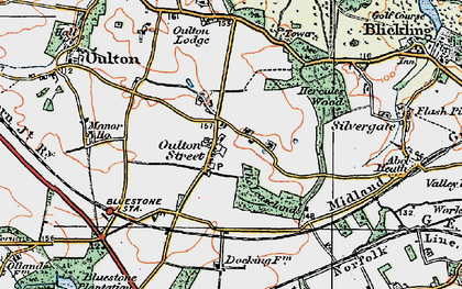 Old map of Leaselands, The in 1922