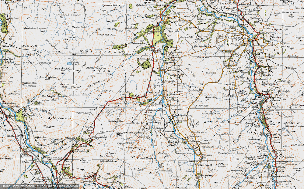 Old Map of Historic Map covering Allen Dale in 1925