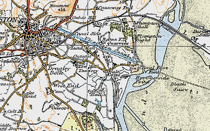 Old map of Sandhall in 1925