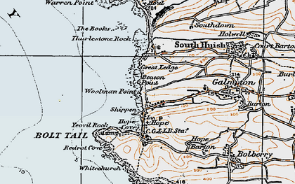 Old map of Woolman Point in 1919