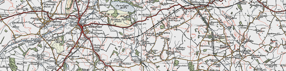 Old map of Windmill Bank in 1921