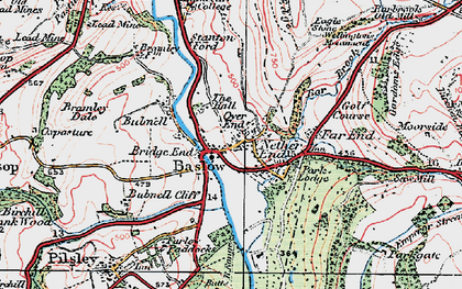 Old map of Over End in 1923