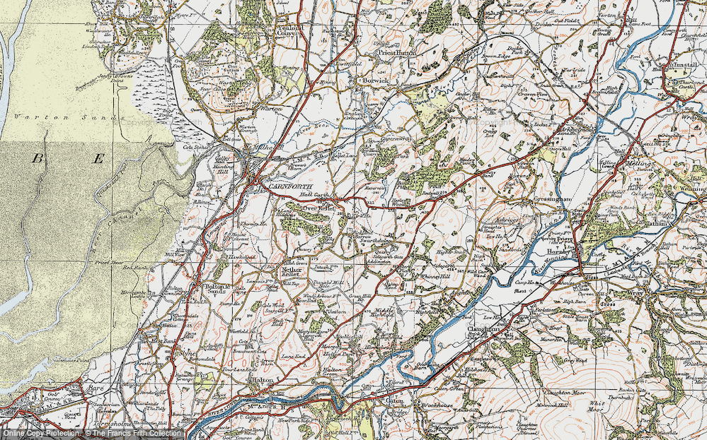 Old Map of Historic Map covering Addington in 1924
