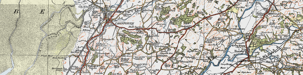 Old map of Addington in 1924