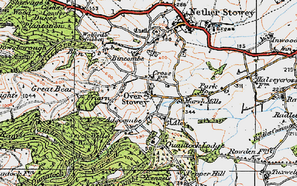 Old map of Over Stowey in 1919