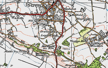 Old map of Wooton Ho in 1919