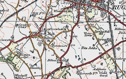 Old map of Ashlawn Ho in 1919