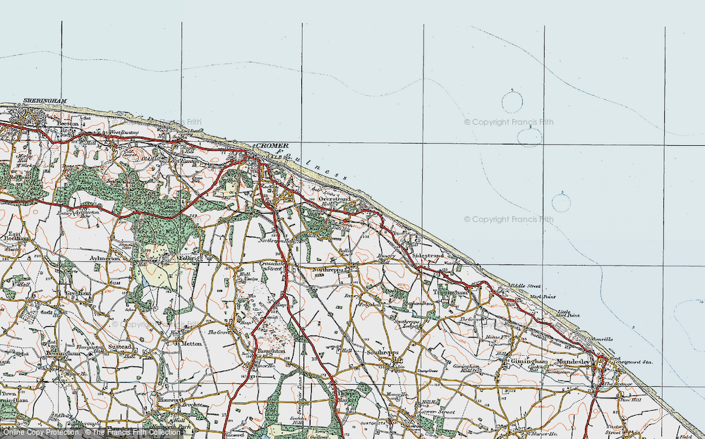 Old Map of Historic Map covering Toll's Hill in 1922