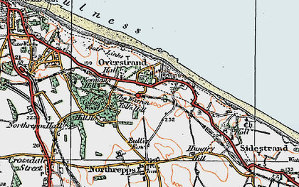 Old map of Overstrand in 1922
