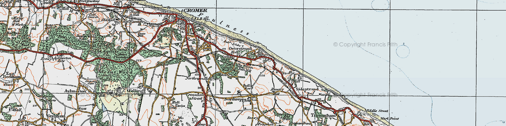 Old map of Toll's Hill in 1922