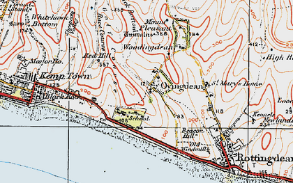 Old map of Wick Bottom in 1920