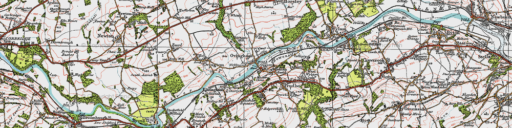 Old map of Ovingham in 1925