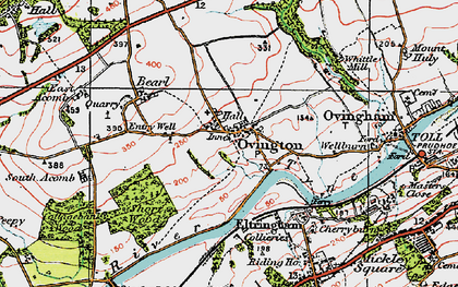 Old map of Whittle Burn in 1925