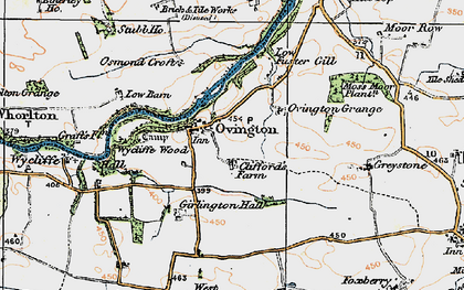 Old map of Wycliffe Wood in 1925