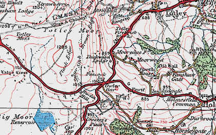 Old map of Owler Bar in 1923